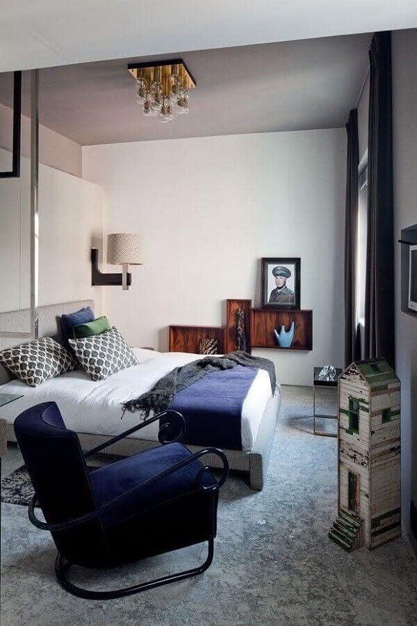Decoração com poltrona confortável para quarto de casal Foto Pinterest