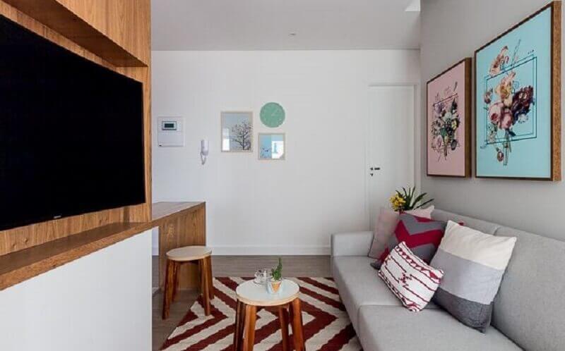 Ideias de cores para sala pequena e simples Foto Duda Senna