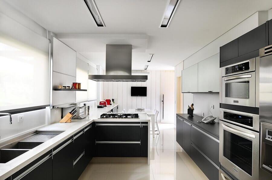 Móveis planejados para decoração de cozinha aberta moderna  Foto Ornare