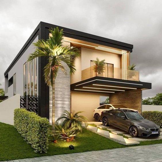 Modelos de garagem aberta para casas modernas