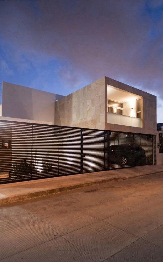 Modelos de garagem para casa grande e moderna