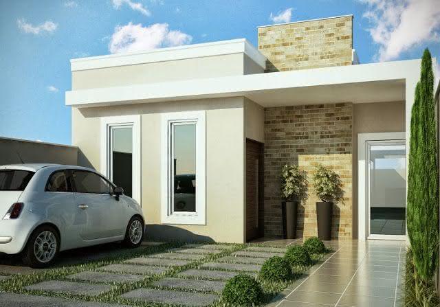 Modelos de garagem para casa moderna