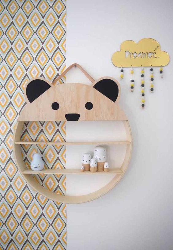 Nicho redondo para quarto de bebe moderno
