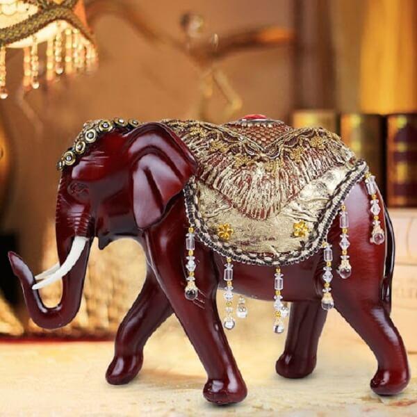 O elefante indiano decoração traz muita prosperidade ao lar. Fonte: Pinterest