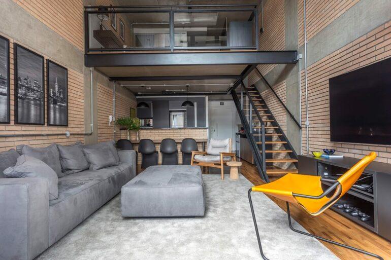O loft já contava com uma identidade industrial. Foto: JP Image
