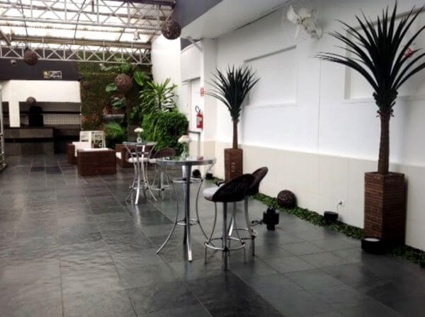 Pedra ardósia preta para decoração moderna