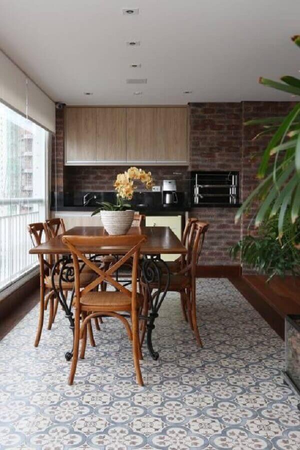 Piso antigo para decoração de apartamento com varanda gourmet Foto Homify
