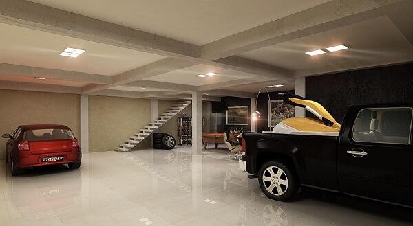 Piso cerâmica polido para garagem subterrânea