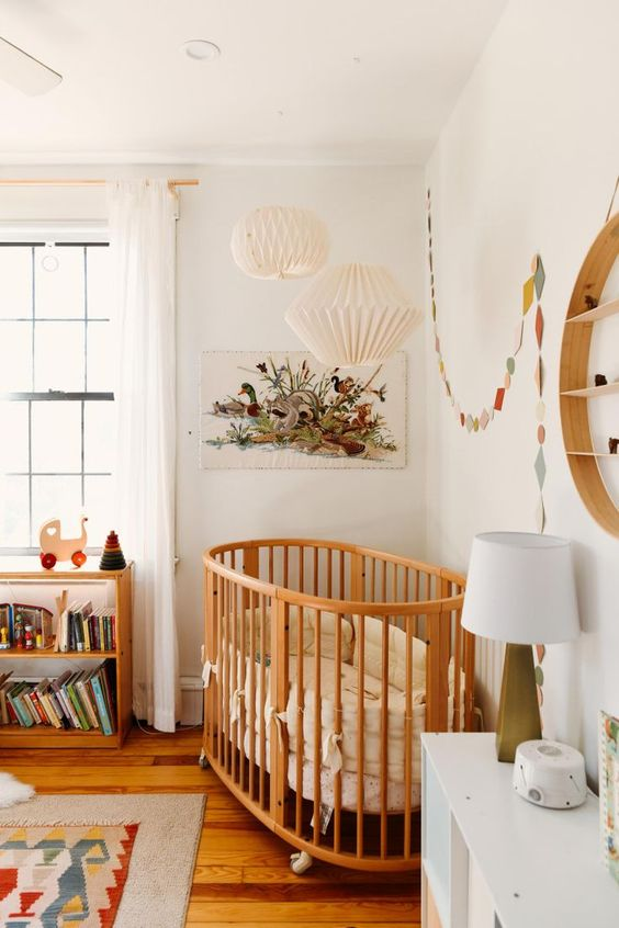 Quarto de bebe retro delicado