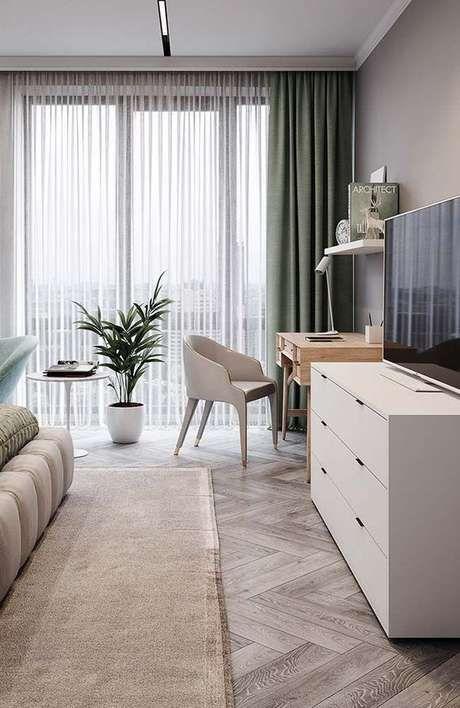 Rack para quarto com móveis modulados