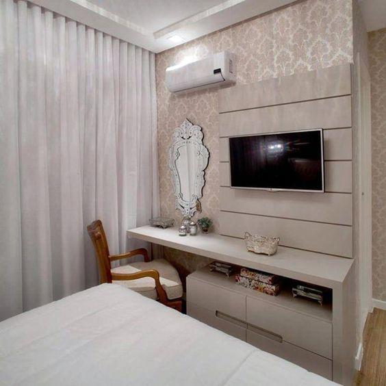 Rack para quarto com móveis planejados
