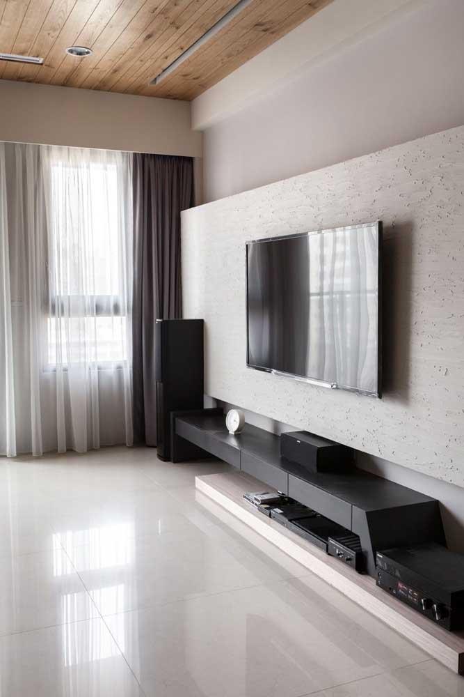 Rack para quarto com painel para tv