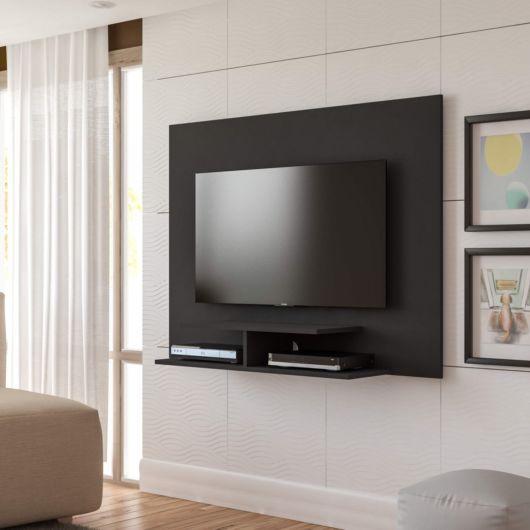 Rack para quarto suspenso na cor preta