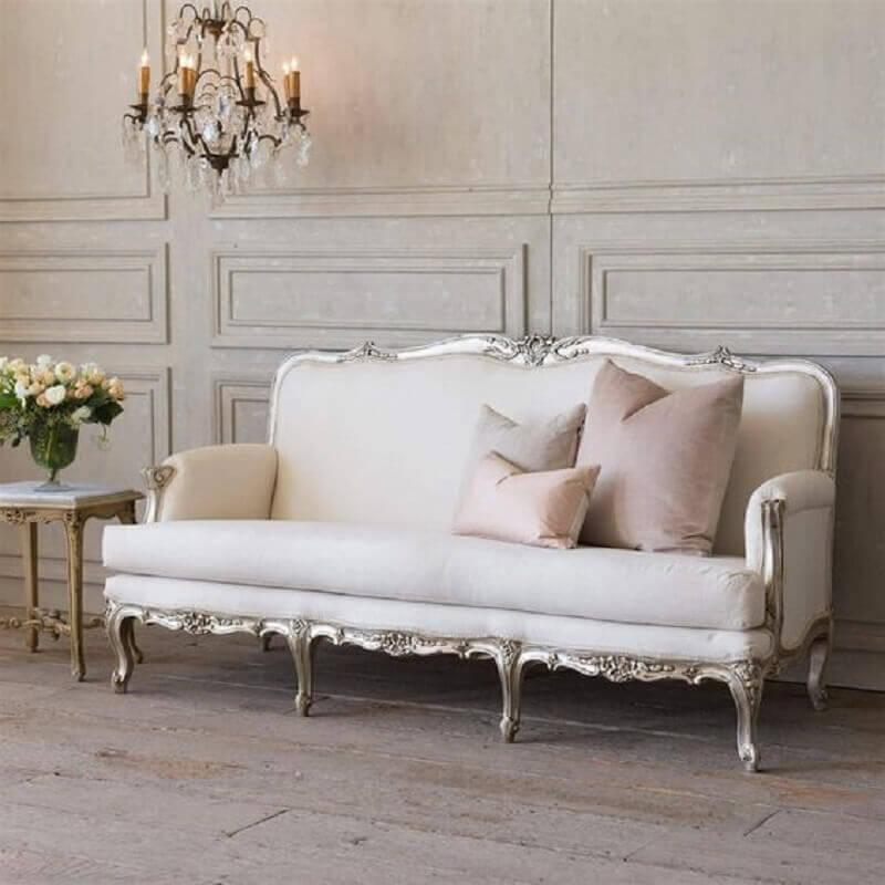 Tipos de sofa antigo para decoracao de sala classica Foto Kathy Kuo Home