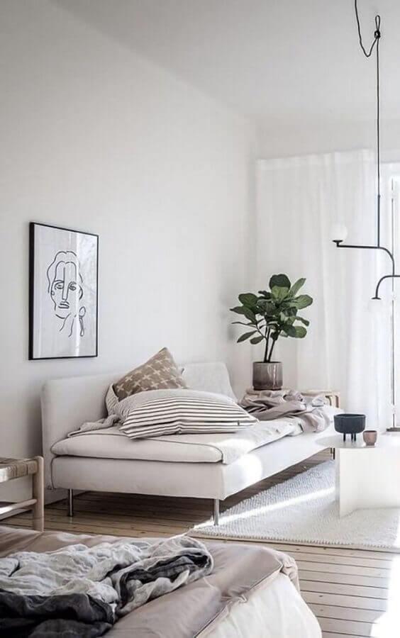 Tipos de sofa cama para decoracao de sala moderna Foto Decor Facil