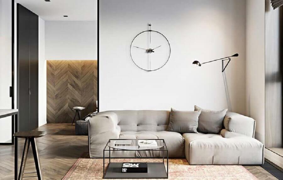 Tipos de sofa para decoracao de sala minimalista Foto Decor Facil