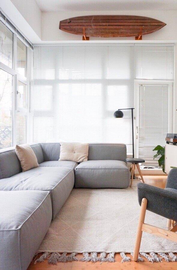 Tipos de sofas de canto para decoracao de sala minimalista Foto Decor Facil