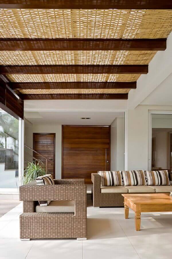 Tipos de sofas de vime para decoracao de varanda Foto DG Arquitetura + Design