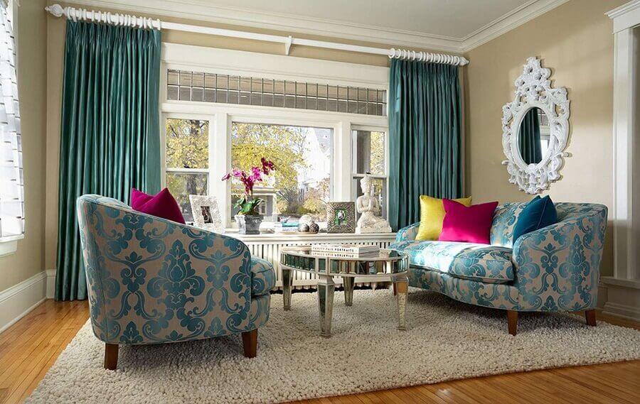 Tipos de sofas estampado para decoracao de sala com estilo classico Foto Arkpad