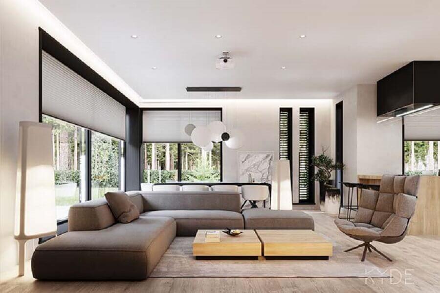 Tipos de sofas modular de canto para decoracao de sala moderna Foto Behance