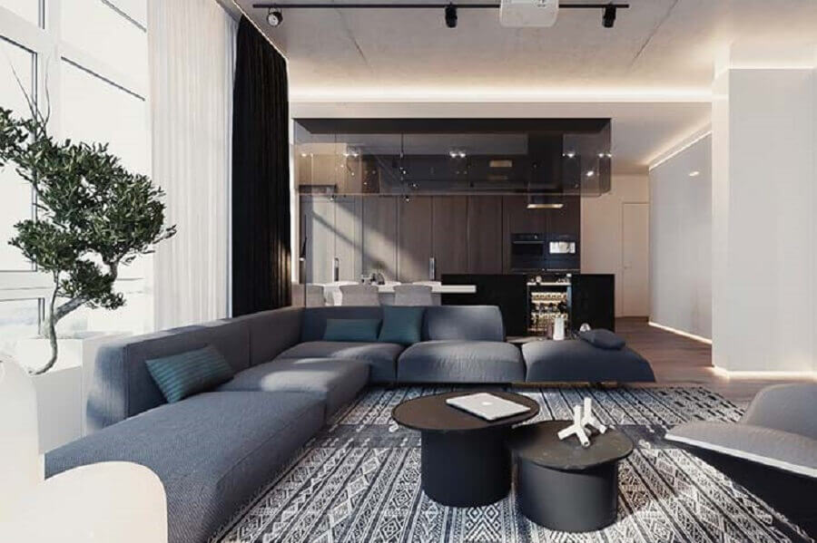 Tipos de sofas modular para decoracao moderna de sala ampla Foto Futurist Architecture