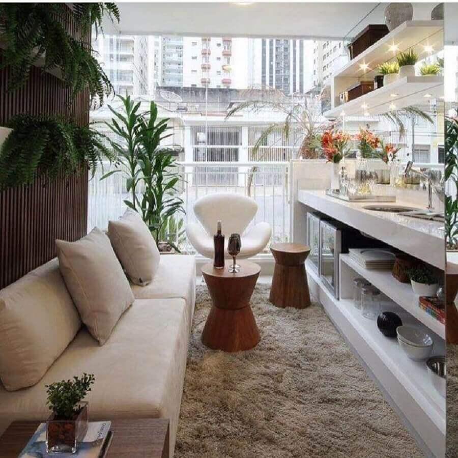 Tipos de sofas para decoracao de sala pequena de apartamento Foto Chris Silveira
