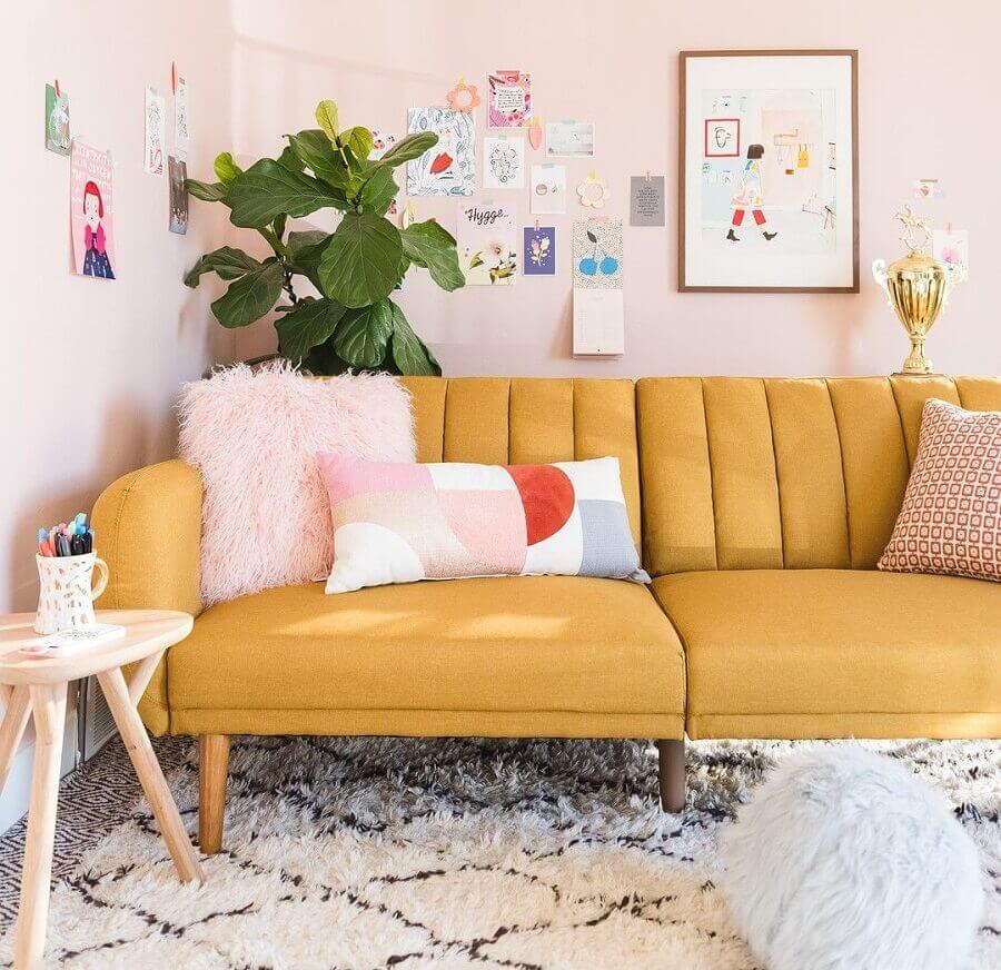 Tipos de sofas retro para decoracao de sala simples Foto Dicas de Mulher