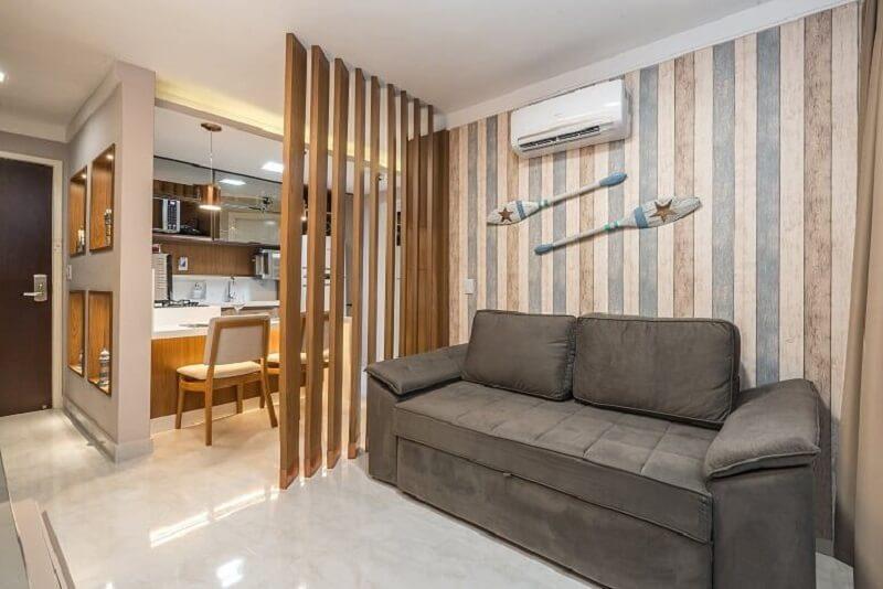 Utilize o papel de parede em diferentes ambientes da casa. Foto: Habitissimo