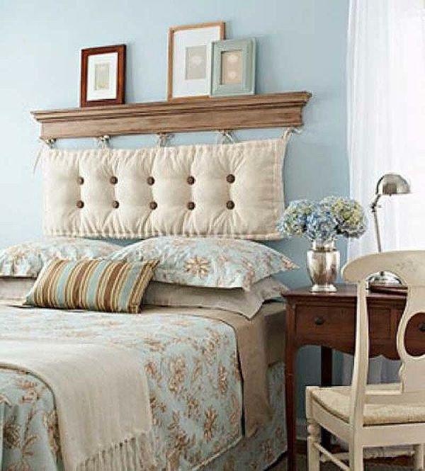 Almofada de cabeceira bege de futon
