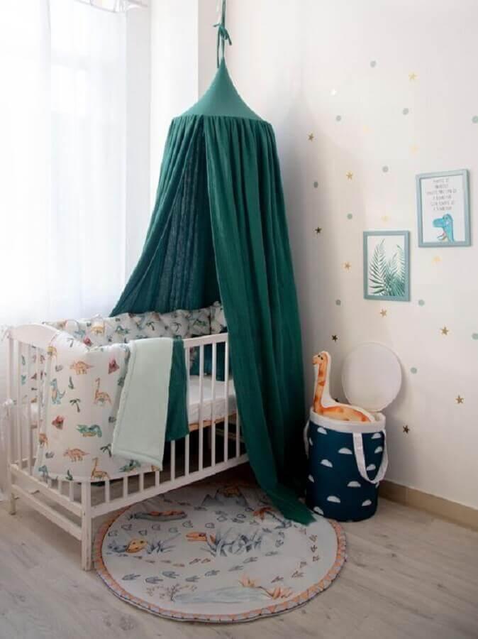 Berço com dossel para decoração de quarto de bebê simples Foto Happy Spaces Workshop