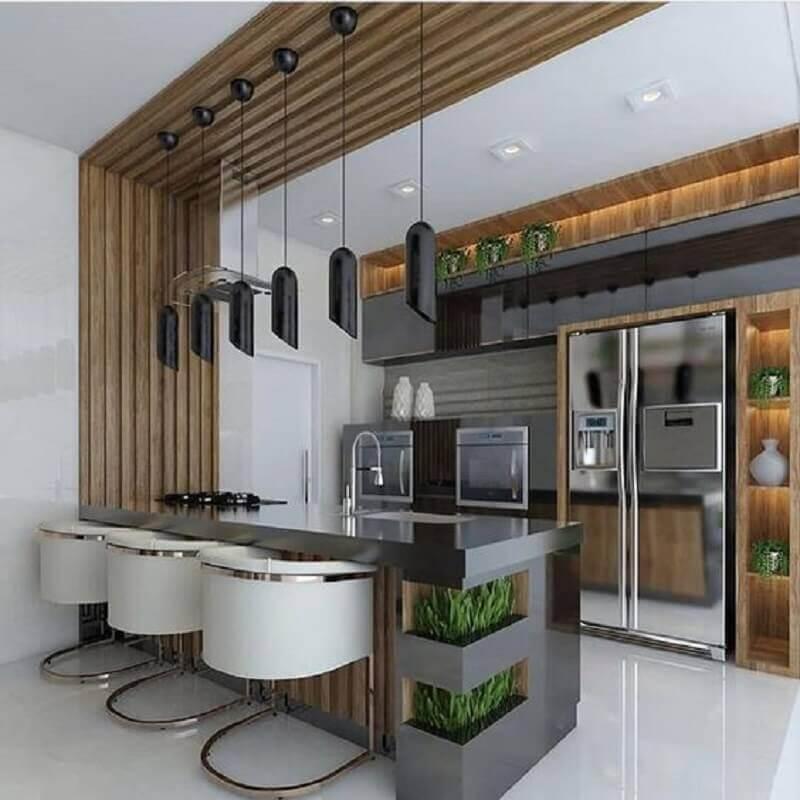 Cadeira moderna para decoração de casa com sala e cozinha americana planejadas Foto Arkpad