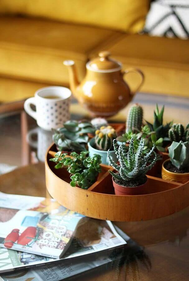 Ideia de decoração de sala pequena com plantas Foto Ideias Decor