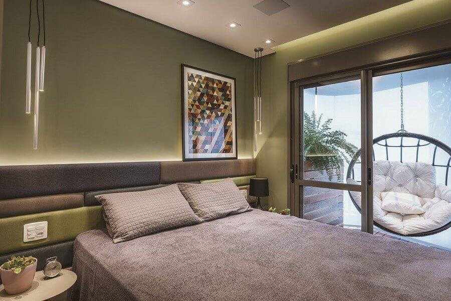 Ideias de cabeceira de camas box para quarto de casal com decoração moderna Foto Altera Arquitetura