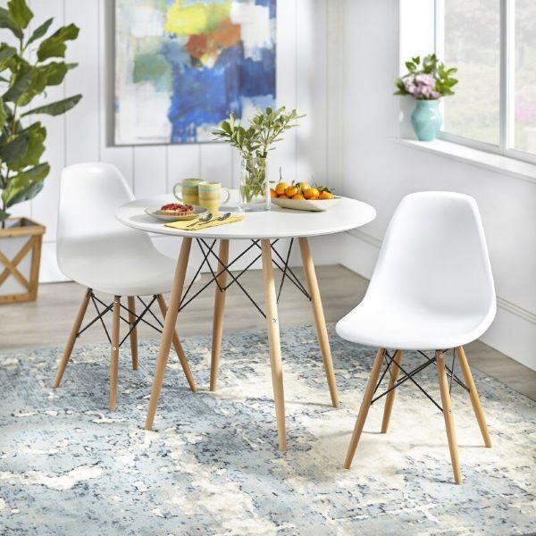 Mesa eiffel branca para cozinha pequena