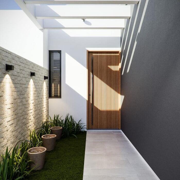 O pergolado de concreto é uma extensão da construção. Fonte: Dicas Decor