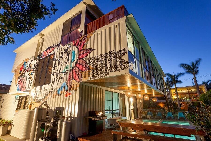 Projeto moderno de construção com containers Foto Minha Casa Container