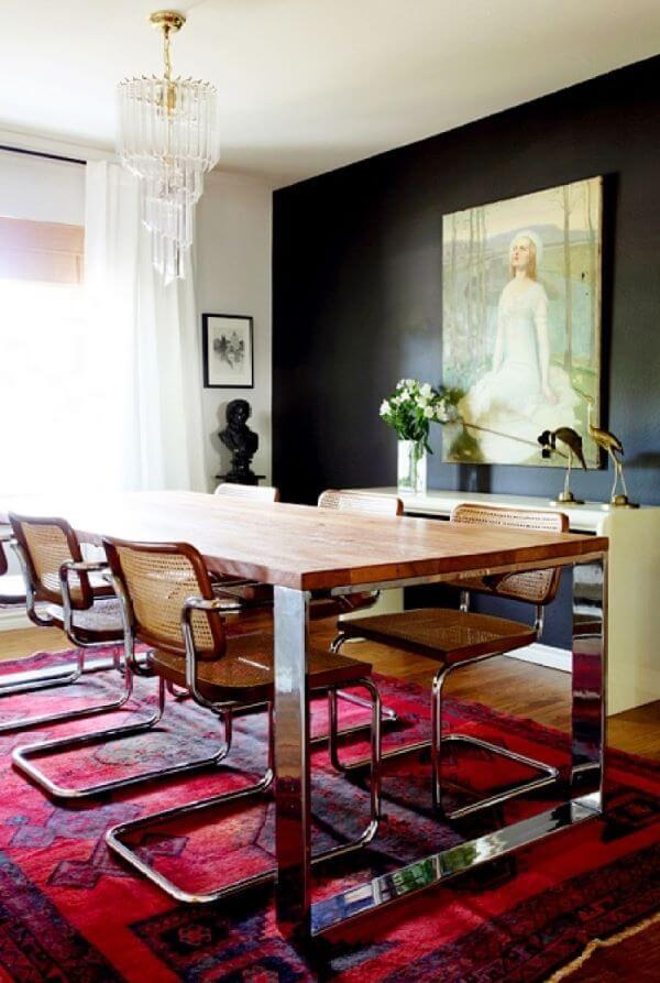 Sala moderna com cadeira cesca