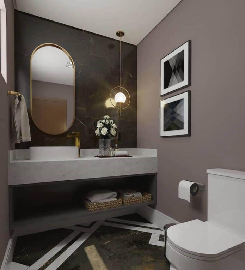 Tons de cinza para decoração de banheiro bonito e moderno Foto Ventana Arquitetura