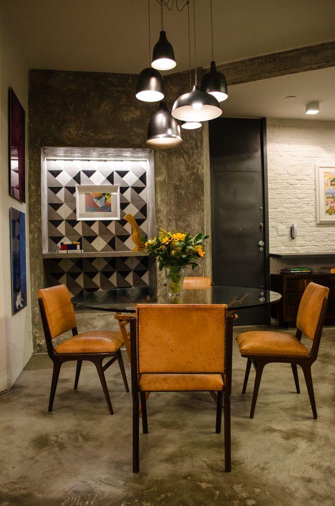 Vaso de flor para sala com decoração industrial