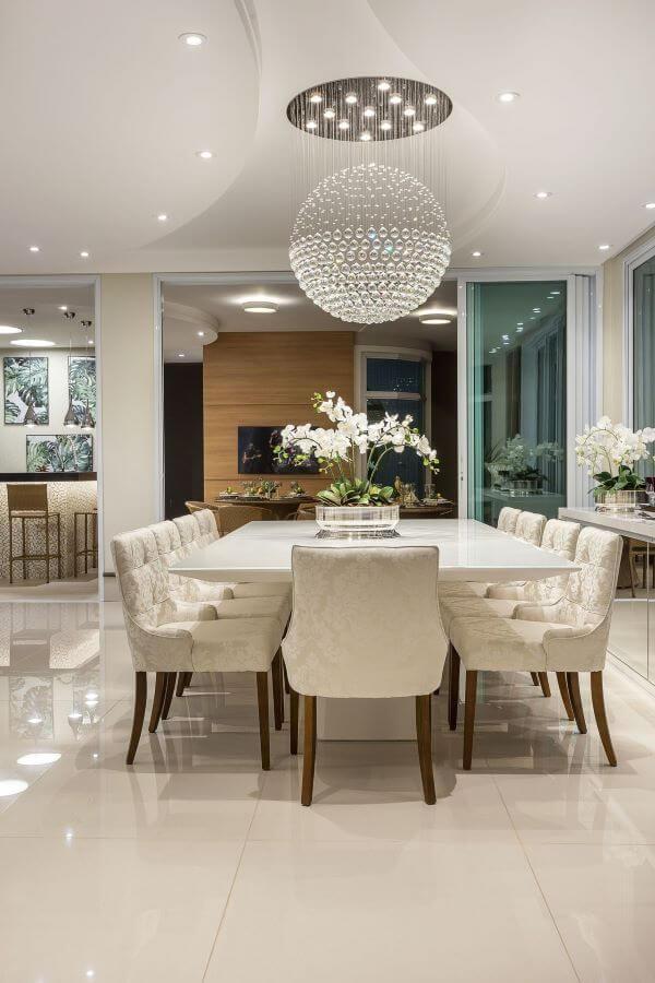 Vaso de flor para sala de jantar clássica e luxuosa