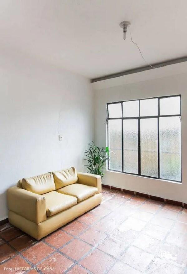 Você pode restaurar o piso vermelho antigo. Foto: Histórias de Casa