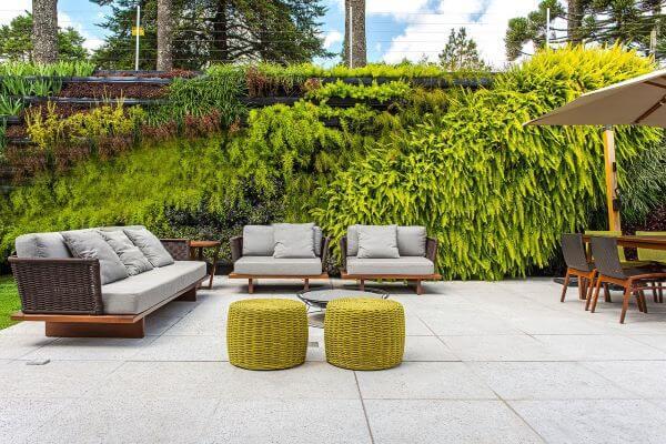 Sofá chaise área externa moderno
