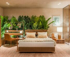 Brasilidade e decoração monocromática para o quarto do Estúdio Terra na CASACOR 2021 Foto Renato Navarro CASACOR
